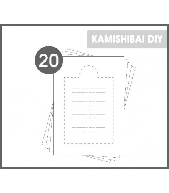 20 Kamishibai DIY stickers for writing PRO stories (BIG A3)