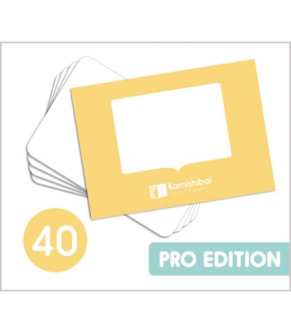 40 DIY Kamishibai PRO A3 Blank Story Cards (Do It Yourself)