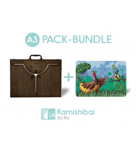 Bundle: Kamishibai PRO Theater (A3) + Puhuy the Bird