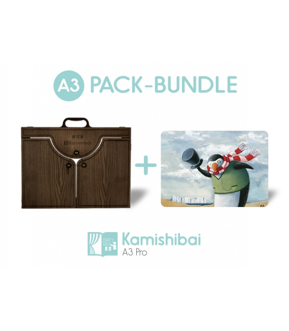 Bundle: Kamishibai Theater PRO EDITION (BIG A3) + Little Fishie
