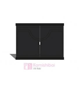 Teatro Kamishibai KIDS Black (A4) + Guía